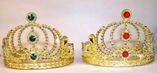 12 GOLD CROWN TIARA costume party favors supplies hat tierra tiaras princess NEW