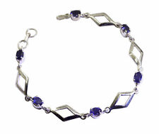 handcrafted 925 Solid Sterling Silver bewitching genuine Blue Bracelet gift UK