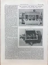 Vauxhall Car, Motor And Gearbox Made In Luton: 1908 Engineering Magazine Print