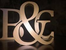 Any 9 Metallic Gold Wooden Letters, Any A-Z, 13cm Large Letters, Numbers