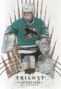 2014-15 Upper Deck Trilogy Hockey #90 Arturs Irbe San Jose Sharks