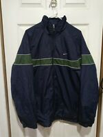 Vintage Nike Windbreaker Jacket Navy/Green Men's 90s retro track gray tags Sz XL