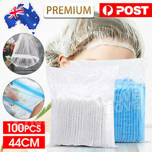 100 Piece Disposable Shower Caps Clear Hair Net Case Sleep Travel Cap Bath Spa