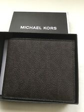 840137c8d933 Michael Kors Signature Leather Billfold Wallet With Coin Pocket