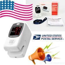 USA Finger tip Pulse Oximeter Talking Blood Oxygen SpO2 PR HR Monitor CMS50L