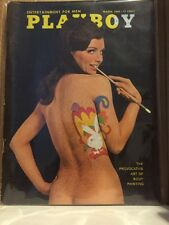 Vintage Playboy Magazine~March 1968~Body Painting~Truman Capote Interview~More!