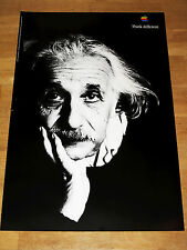 APPLE THINK DIFFERENT POSTER - ALBERT EINSTEIN  24 x 36 by STEVE JOBS 61 x 91 CM
