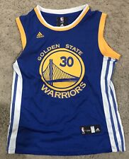 Stephen Curry Adidas Golden State Warriors 30 NBA 4her Women's Jersey Size L