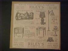 RARE~Old House Lamps Bedroom Furniture Newspaper Print AD~ ANTIQUE Original 1925