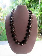 Hawaii Wedding / Graduation New Brown Kukui Nut Lei Luau Hula Jewelry Necklace
