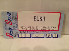 Bush Concert Ticket Stub Buffalo NY 4-13-1996