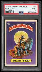 1985 Topps GARBAGE PAIL KIDS DEAD TED Card #5a ** PSA 9 MINT ** OS1 Matte