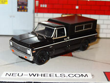1972 CHEVY C-10 PICKUP TRUCK BLACK 1/64 SCALE DIORAMA DIECAST COLLECTIBLE PG