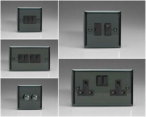 Varilight Classic Iridium Black Range - Black Inserts & Black Plastic Switches