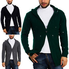 Mens Cardigan Hood Sweater Jacket Pullover Toocool Long Sleeves GM726