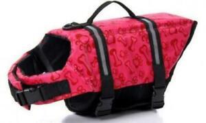 Durable Pet Dog Life Jacket Swimming Safety Vest w/ Rescue Handle Sz Large