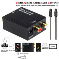 RCA L/R Optical Coaxial Toslink Digital to Analog Audio Converter Adapter