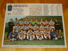 # POSTER= JUVENTUS + AS ROMA CALCIO SERIE A=1976/77=MISURE 33X25 CM.=