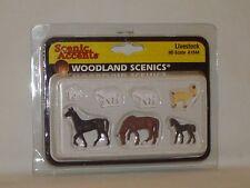 WOODLAND SCENICS SCENIC ACCENTS LIVESTOCK #A1844 HO SCALE