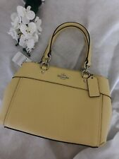Coach MINI BROOKE Carryall Satchel Crossbody Shoulder Bag Vanilla Yellow