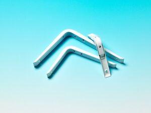 REINFORCED SHELF BRACKETS HEAVY DUTY SUPPORT METAL STEEL-  PAIR - 4 Sizes