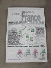 Collection Historique Timbre Poste 1er Jour : 27/05/95 -REGION NATURELLES FRANCE