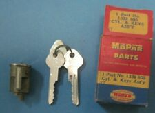 NOS trunk lock and key set late 1950 1951-1952 Plymouth Dodge DeSoto with keys