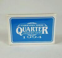 Sealed Deck 1994 Fairbanks Morse Quarter Century Club Playing Cards Bridge Size