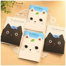 Cute Cartoon Cat Notebook Hard Cover Paperback Book Diary Notepad Sketchbook