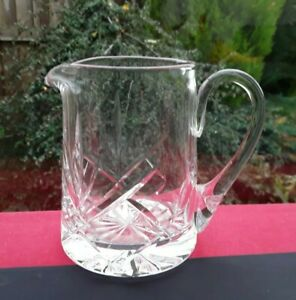 CONTEMPORARY CUT CRYSTAL GLASS JUG MILK OR CREAMER AFTERNOON TEA PARTY GATHERING