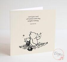 WINNIE THE POOH - Quote Love - Anniversary, Birthday Card Valentine's Card