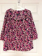 style and co ladies shirt plus size 16W pink black multi bold print  68