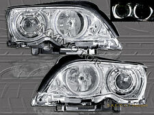 2002-05 E46 3-SERIES 323i 325i 328i 330i 4DOOR HALO PROJECTOR CHROME HEADLIGHTS