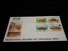 Vintage Cover,DAR ES SALAAM,TANZANIA, AFRICA,FDC,1984 Bl Of 4 Traditional Houses