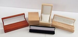 Eye Maple 2/3 Luxury Wooden Necklace Watch Bracelet Jewellery Storage Gift Box