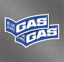 "2x 7"" Gas blue jeans decals sticker factory Repsol Pegatina AUTOCOLLANT MOTO GP"