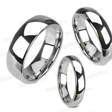 Tungsten Carbide Silver Polished Wedding Band Men Women Engagement Bridal Ring