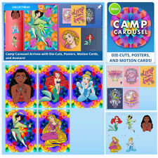 CAMP CAROUSEL-15 CARD SET-MOTION/POSTERS/DIE-CUTS TOPPS DISNEY COLLECT