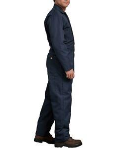 Dickies Men's Basic Blended Coverall, Dark Navy, 2XL Tall Long sleeve Twill