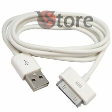 3 ALAMBRE DE PLOMO CABLE DATOS USB PARA EL IPHONE 4 4G 4S IPOD TOQUE IPAD BLANCO