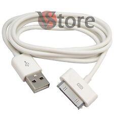 3 CAVETTO CAVO DATI USB PER IPHONE 4 4G 4S IPOD TOUCH IPAD BIANCO