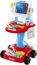 Kinder Spielzeug EKG Arztwagen Doktor Set Trolley Licht  Geräusche schiebbar