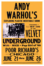 Velvet Underground   *LARGE POSTER*   w/ NICO - Andy Warhol 1966 live concert