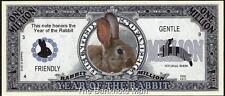 Million Note - Fantasy Money - Chinese Zodiac - Year of the Rabbit