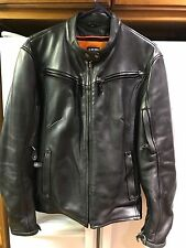 MILWAUKEE LEATHER Womens Cafe Racer XL Black Bomber Jacket Motorcycle Biker