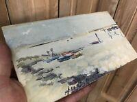 Peinture Marine Ancien Mer French Painting Panneau Peint