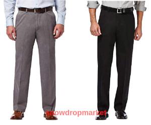 NWT!!! Haggar Men's Premium Non Iron Flat Front Classic Fit Twill Pants