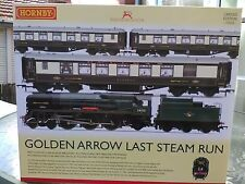 Hornby R3400 Golden Arrow Last Steam Run Train Pack BNIB