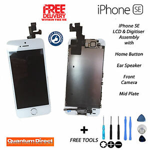 NEW iPhone SE Complete Pre Assembled Retina LCD Digitiser Touch Screen - WHITE