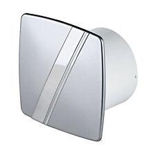 "Used Bathroom Extractor Fan 100mm / 4"" Silver Chrome Ventilator Kitchen WLS100U"